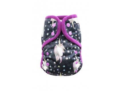 Kouzelný jednorožec PAT, fialový fleece
