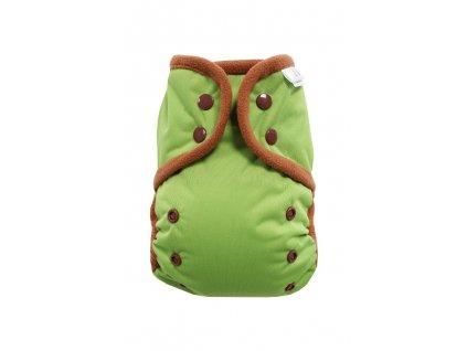 Zelené PAT, hnědý fleece