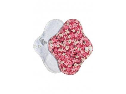 Slipovka Froté PUL Bílá, Vínové a bílé květy