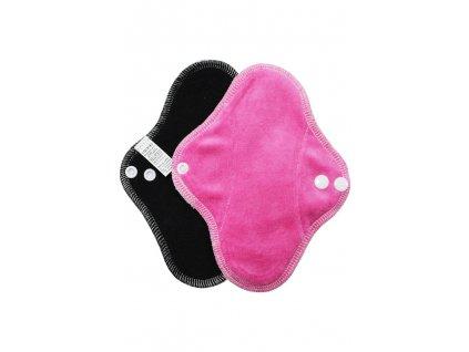 Slipovka fleece Černá, růžový velur