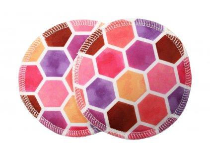 Prsní PUL Medové plástve růžové