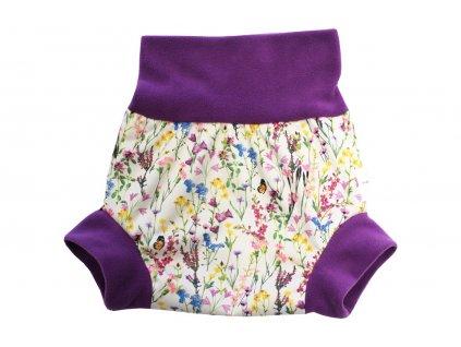 Natahovací PUL svrchní kalhotky - Rozkvetlá louka