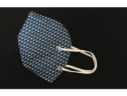 Respirátor FFP2 Modré káro (Opakovaně použitelný, učinnost 99.9%, Česká výroba)