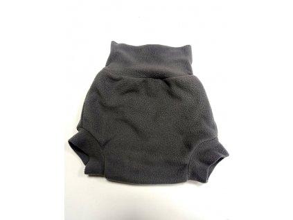 SLEVA Natahovací fleecové svrchní kalhotky - Šedé