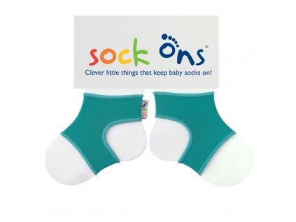 sock ons bright turquoise 334