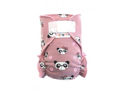 Panda růžová SZ sv.růžový velur1