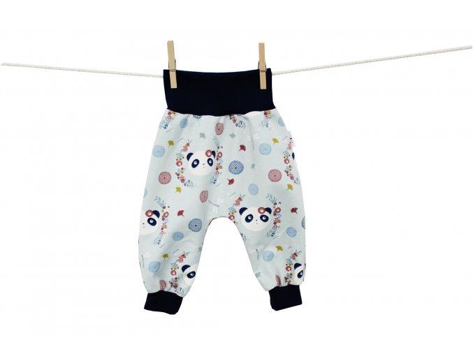 Turecké kalhoty - Pandy v kytičkách