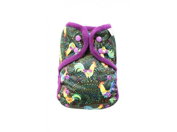 Kohouti PAT, fialový fleece
