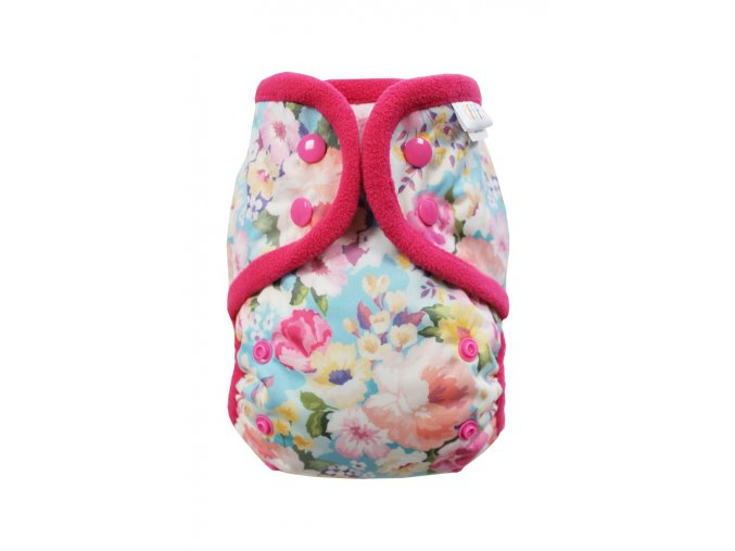 Rozkvetlá zahrádka PAT, růžový fleece