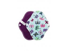 Intimka Motýl mint, fialový fleece