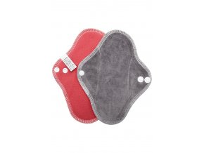 Slipovka fleece Červená, šedý velur