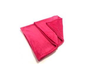 Dětská deka Tmavě růžová (vínová)