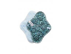Slipovka Vlnky, sv.modrý velur1