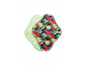 Slipovka Duhové kuličky se zelenou sv.zelený velur