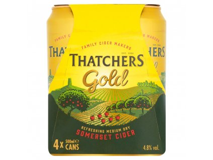 Thatcher Gold Somerset Cider 4.8%, 4x500ml cans