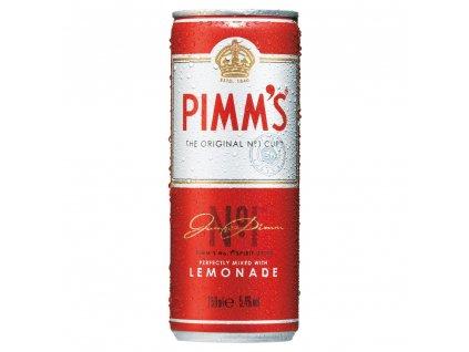 pimms no 1 and lemonade premixed cans 12 x 250ml temp