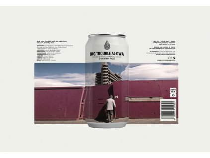 The River Brew Co., Big Trouble Al'Owa, Pecan Maple Twist Imperial Stout, 14.0%