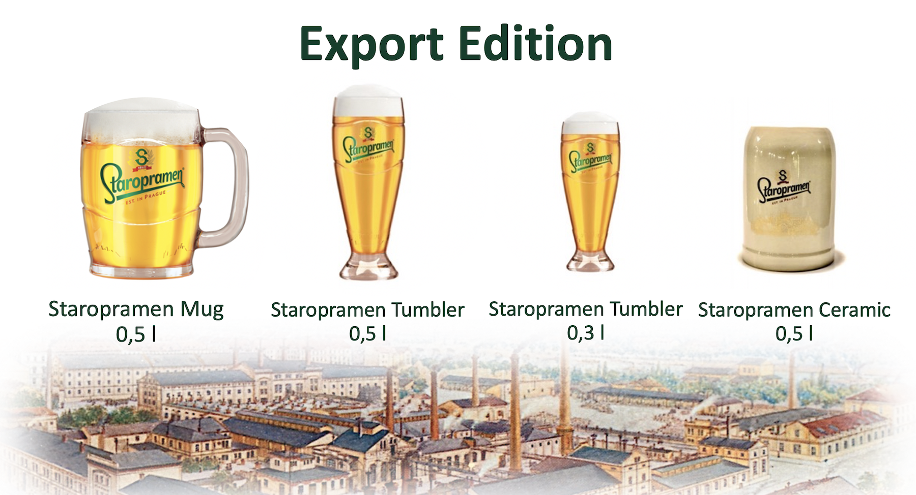 Staropramen Export Glasses