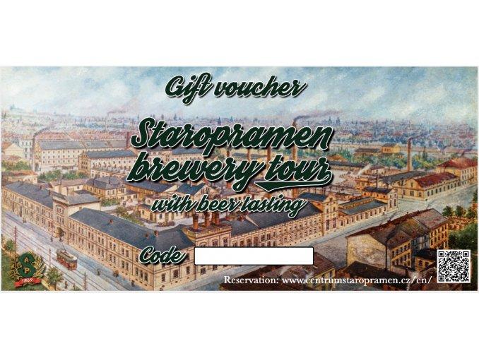 Staropramen Brewery Tour Voucher