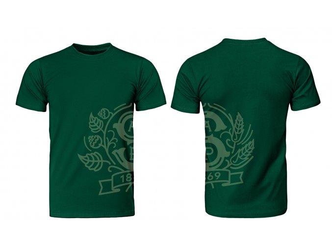 STP tričko pečet zelený