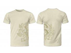 STP tričko pečet bežové