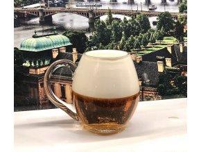 Hand-blowed Crystal Glass 0,5 l - Ručně foukaná křišťálová sklenice 0,5 l