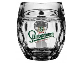 Staropramen German Style  Glass 0,4 l / Staropramen sklenice v německé stylu 0,4 l