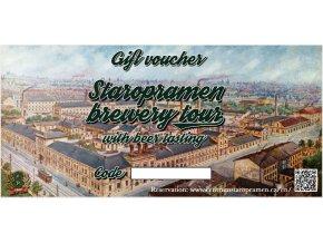 Staropramen Brewery Tour Voucher / Voucher prohlídka pivovaru Staropramen
