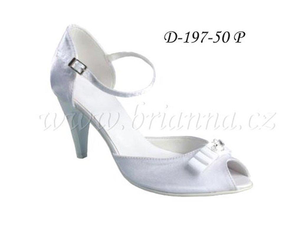 58755d05ea7 Saténové svatební boty s mašlí a štrasovou sponou - bílé