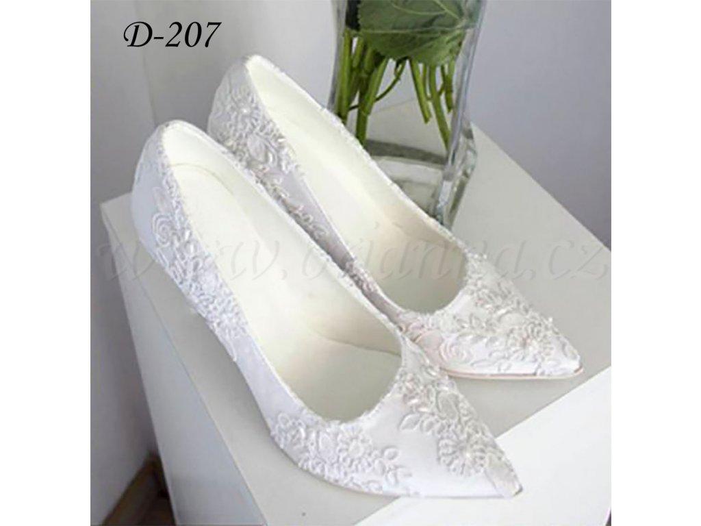 Krajkové svatební boty - bílé bdecbaf734