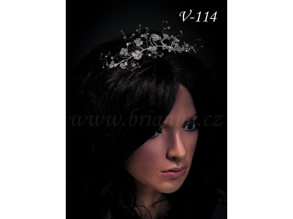 61f4fdafbbd Svatební ozdoba do vlasů - drobné čiré květy V-114