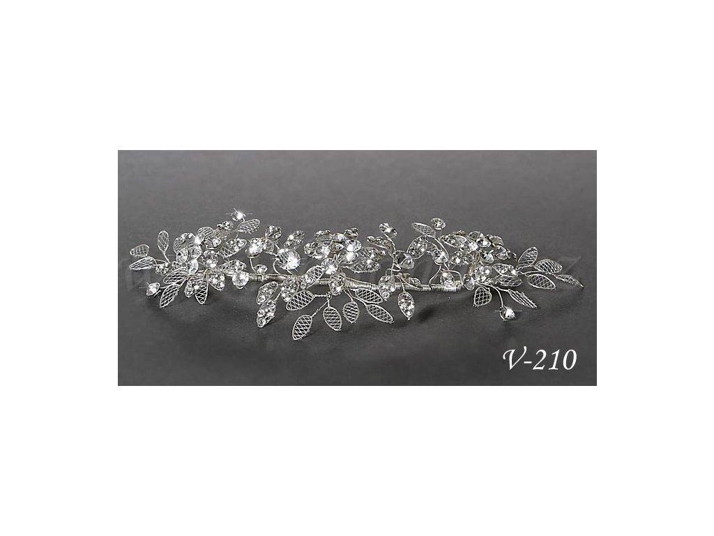 Svatebni Ozdoba Do Vlasu S Listky A Krystaly V 210