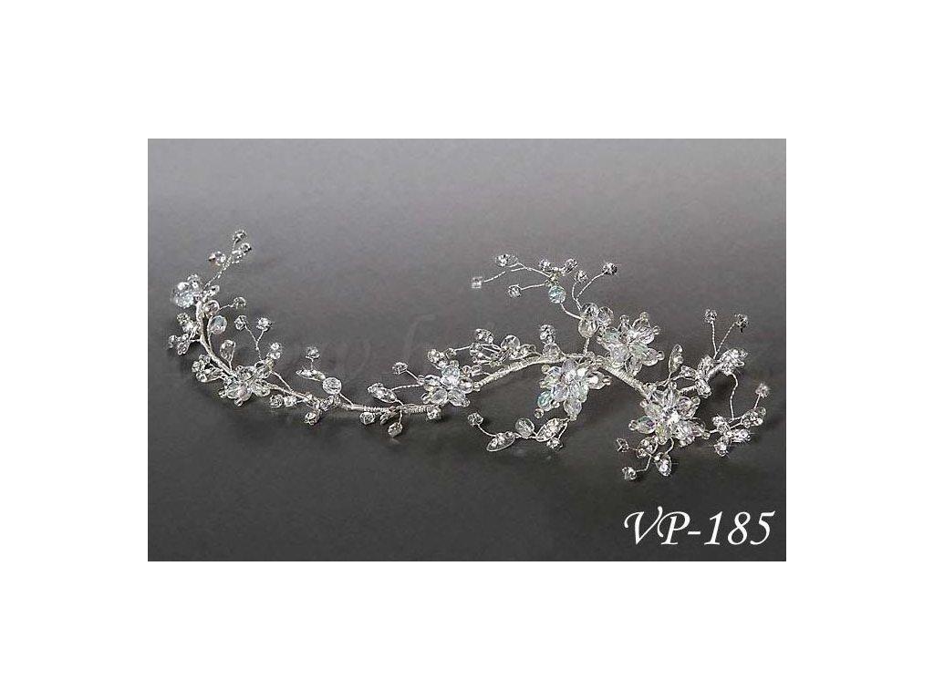 5818cf29a80 Svatební ozdoba do vlasů - štrasový svatební pás VP-185