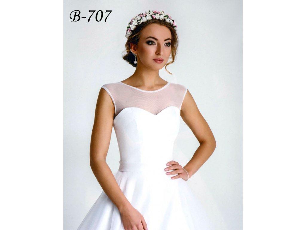 45a65897093e Elastické tylové svatební bolerko - bílé  B-707