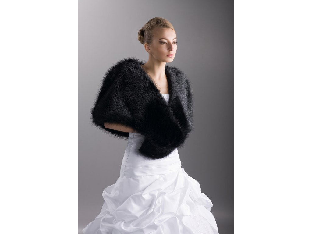 Svatební kožešinový šál  SM-01 59ef264f75