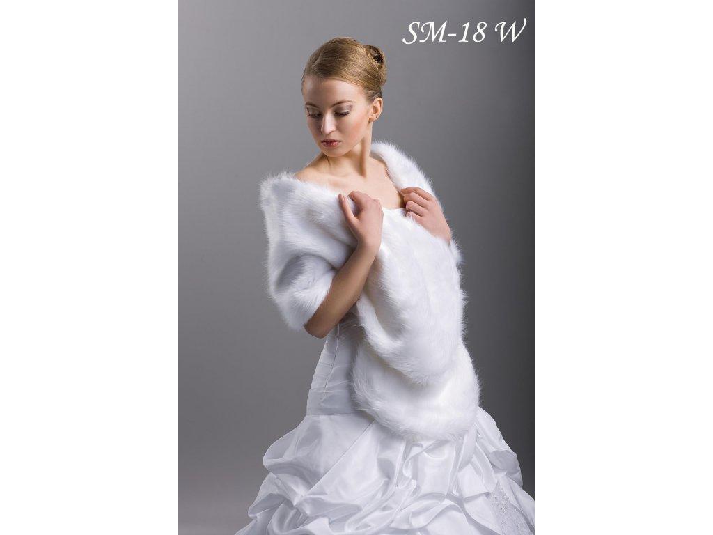 Svatební kožešinový šál  SM-18 W 53b84f2958