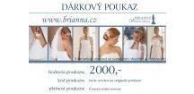 DÁRKOVÝ POUKAZ na svatební doplňky 2000,-