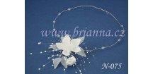 Svatební náhrdelník s květinou N-075