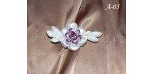 Svatební kanzashi - fialovobílý drobný květ A-05
