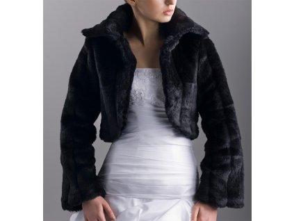 Svatební kožíšek - černý: B-20