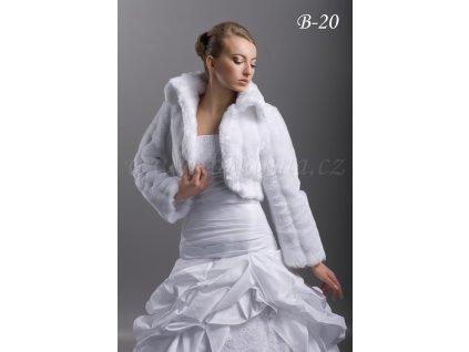 Svatební kožíšek - bílý: B-20