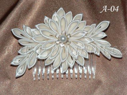 Svatební kanzashi A-04