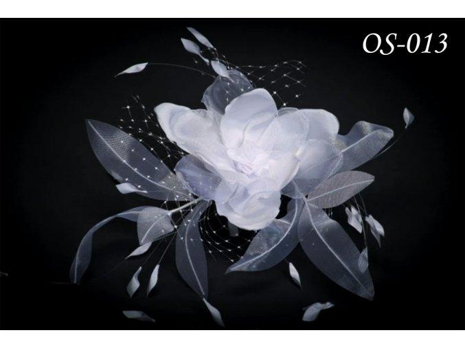 Květinová ozdoba na svatební šaty OS-020