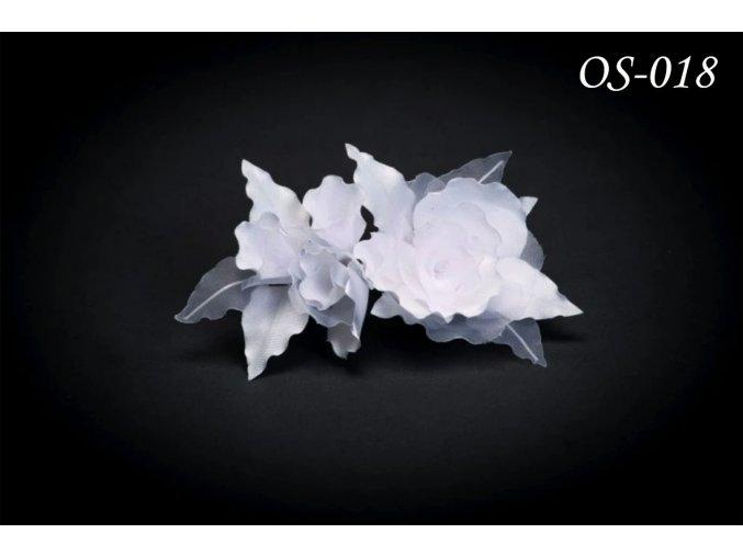 Květinová ozdoba na svatební šaty OS-026