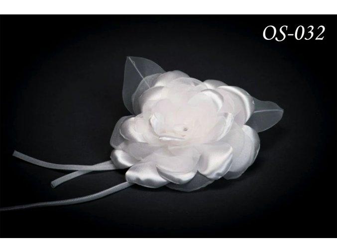 Květinová ozdoba na svatební šaty OS-044