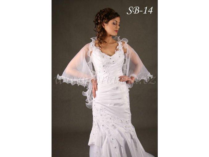 Svatební šál s ozdobným lemem  SB-14   SLEVA