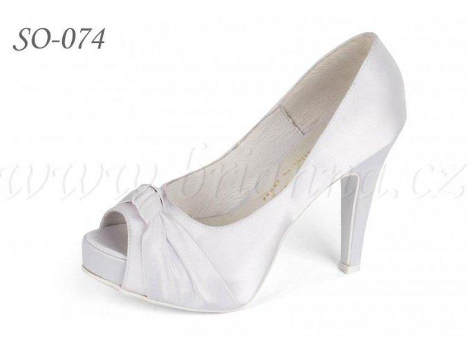Svatební boty - bílé