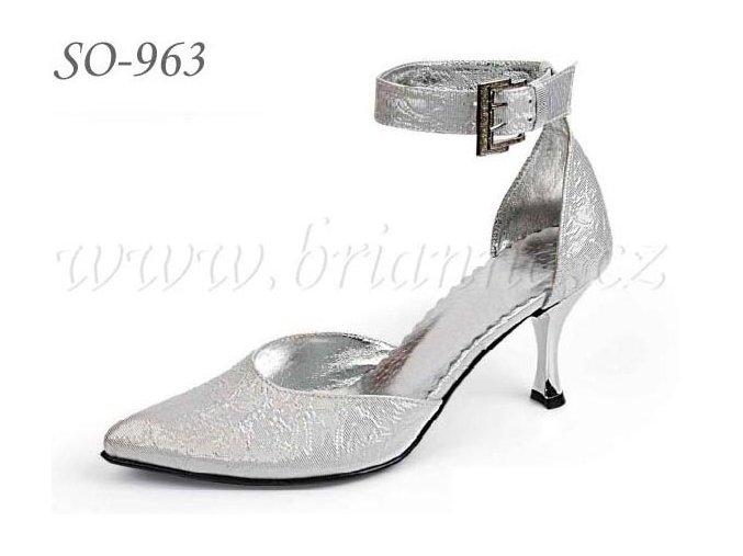Svatební boty - stříbrné, sleva