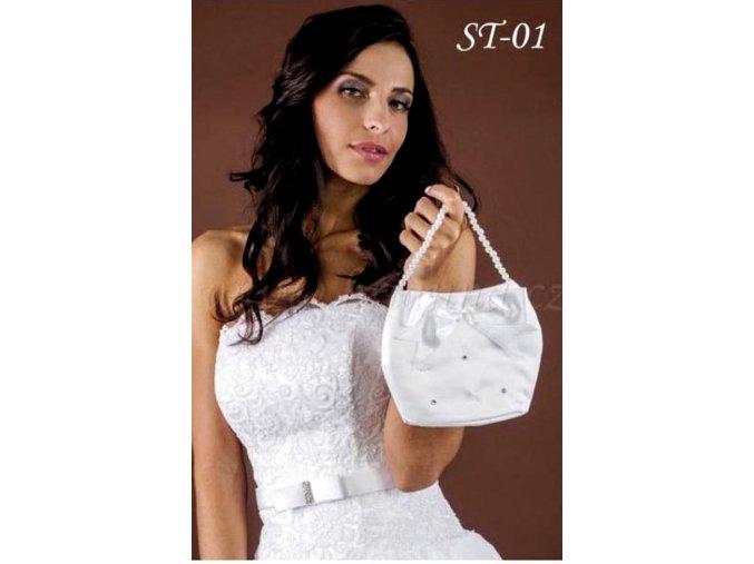 Svatební taštička zdobená krystaly ST-01