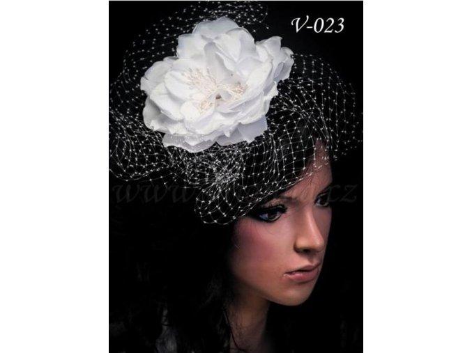 Svatební květina do vlasů V-023 bílá, SLEVA